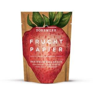 Dörrwerk Fruchtpapier Erdbeere